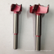 Hinge Boring Bit with Carbide for Wood Industrial Red Color